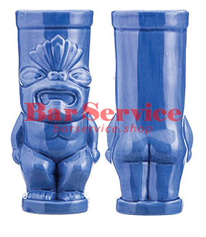 """Стакан д/коктейлей """"Тики"""";керамика 450мл,  голуб. в Благовещенске"""