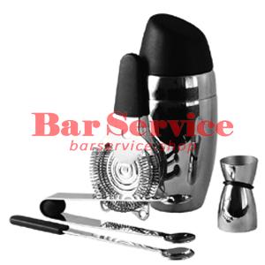 Набор барменский 5 предметов, черный  в Благовещенске
